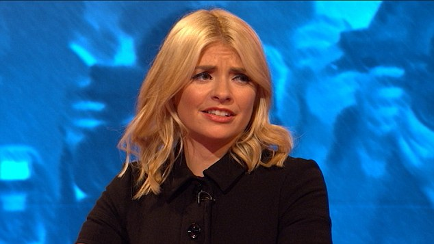 Unimpressed: Shocked, Holly Willoughby responded with: 'That's a bit naughty though, he really loves her.'