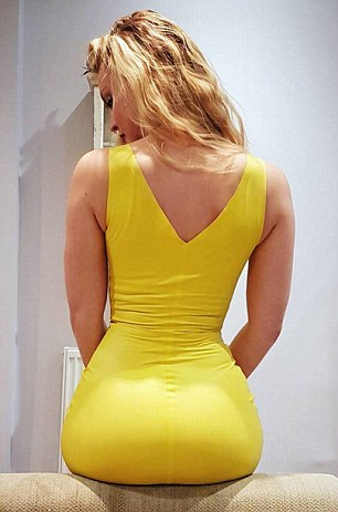 Camilla Kerslake, 28, shared this picture on social media and opened up about her struggle with her derriere
