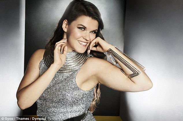 Strike a pose: Saara Aalto was borderline space-age in her sleeveless, silver glitter dress