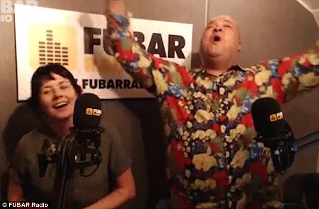 Surprise proposal: Heavy D popped the question during a chat on Fubar radio with hosts Lizzie Cundy and Stephen Leng