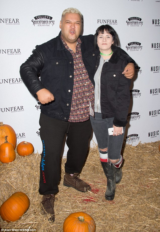 Boom! Heavy D, 43, made a typically loud entrance with his fiancé Bryony Ann Harris, 21