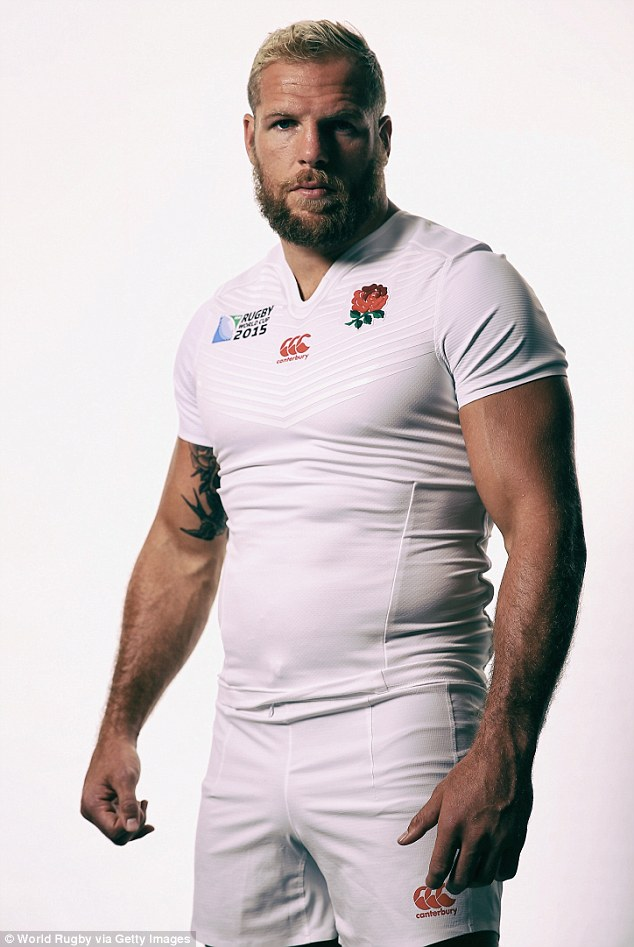 Lead, mean machine: James pictured last year in a promotional England photograph