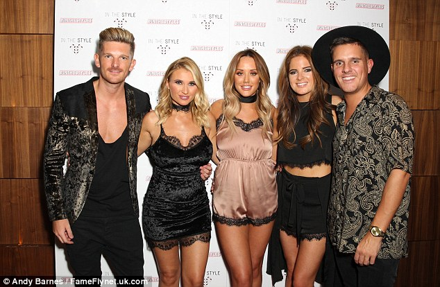 Reality: She partied alongsideBillie Faiers and Binky Felstead at the bash, as well as a selection of her former Geordie Shore co-stars