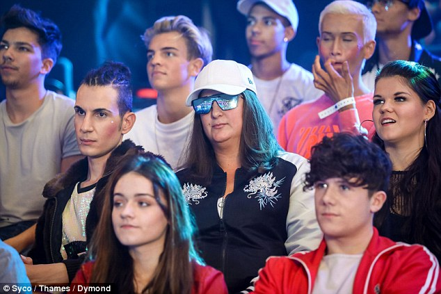 Throwing shade: Honey G looked typically quirky in unique shades inside the studios