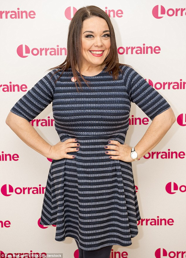 Waist not, want not: The bubbly brunette said she now enjoys showing off her slim waistline