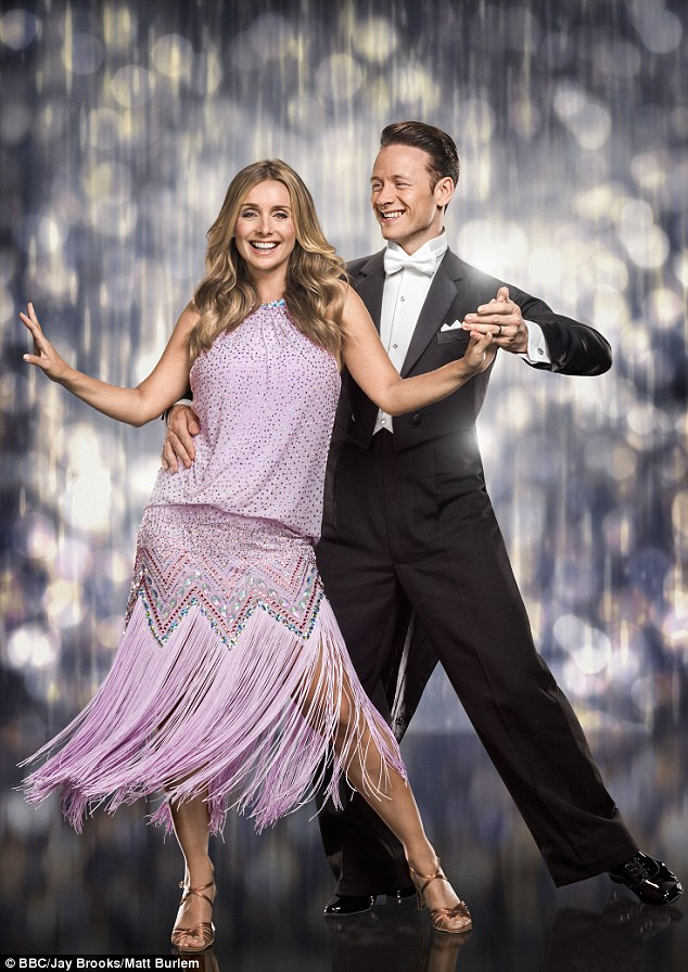In it to win it: Louise, pictured withprofessional dancer Kevin Clifton, has been hotly tipped to scoop the coveted Glitterball Trophy this year