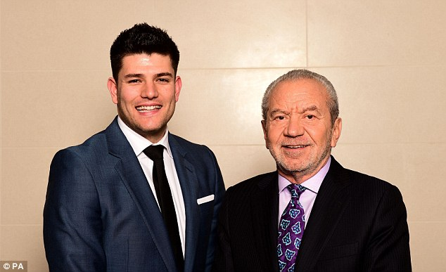 Mark Wright, winner of the tenth series of The Apprentice, with his new business partner Lord Sugar