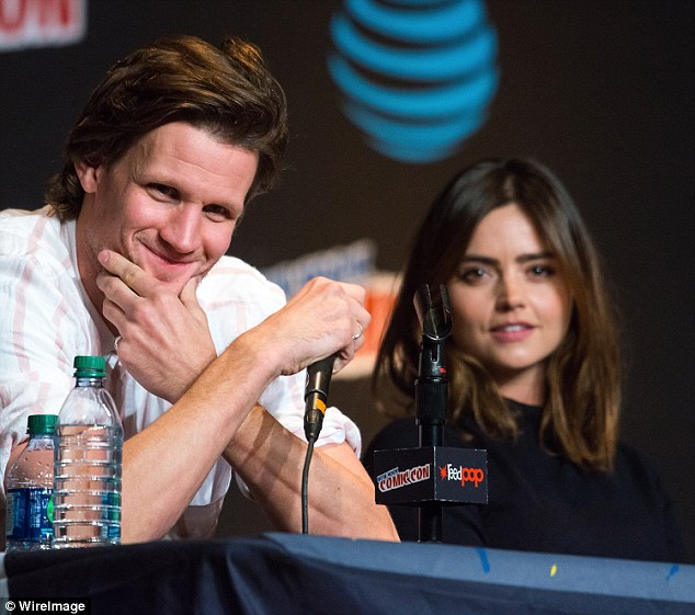 Back together! Jenna Coleman, 30, was reunited with her former Doctor Who co-star Matt Smith once again at the Tales from the TARDIS panel at Comic Con in New York on Thursday