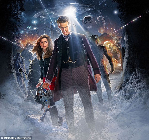 Moving on: Matt left the series in 2014, allowing Peter Capaldi to take over as the Twelfth incarnation of the time-travelling Time Lord