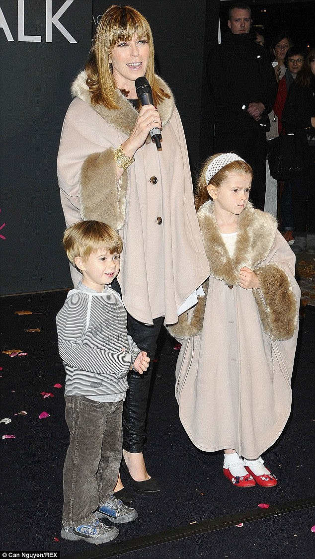 Kate is mother to Darcey and William - the trio are pictured at an event in 2014