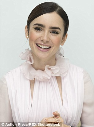Face shaper: Lily pulled a number of faces during the photocall