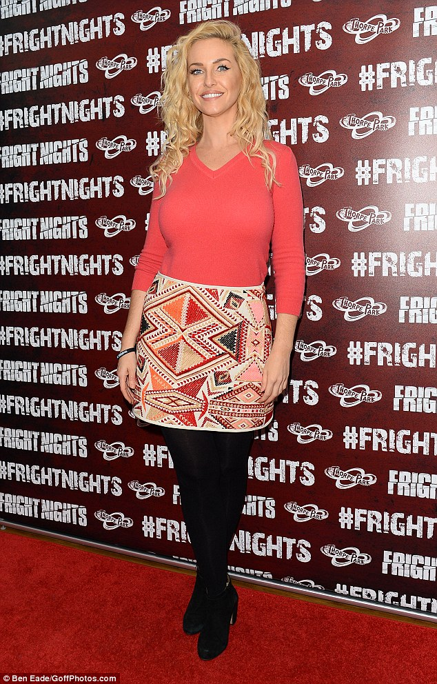 Scream if you wanna go faster: Josie Gibson looked absolutely sensational as she showcased her trim frame at the launch of Thorpe Park's Fright Night in Surrey on Thursday