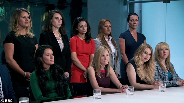 Here we go again: The female Apprentice contestants - later named Team Nebula - found themselves in the firing line when the BBC series kicked off on Thursday night