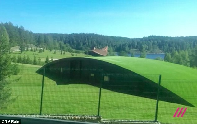 The Russian TV crew who filmed Putin's alleged secret pad said the grass roof was designed to hide it from the West's spy satellites
