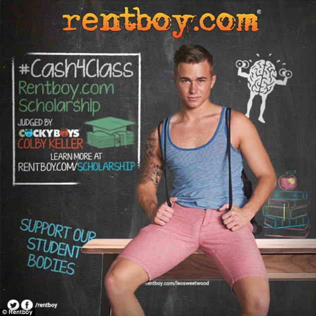 Prosecutors said Rentboy.com was the equivalent of an online brothel. Above is an advert from the site