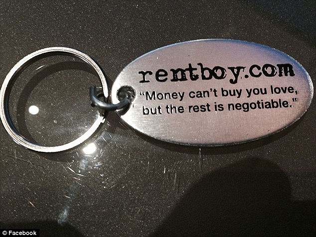 The site was so popular that it even had key chains (above). Members who used the site said they found it safer and more professional than similar sites like Rentmen.com, which remains active