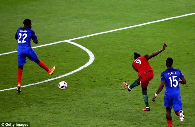 Eder (second right) became the unlikely hero after netting a rare extra-time winner at the Stade de France