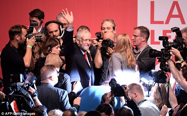 Mr Corbyn trounced rival Owen Smith to be re-elected as Labour leader yesterday
