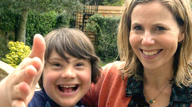 Bridget Jones' actress Sally Phillips with her son Olly (pictured together above) feature ina new, extraordinarily powerful BBC2 documentary  'A World Without Down's Syndrome?'