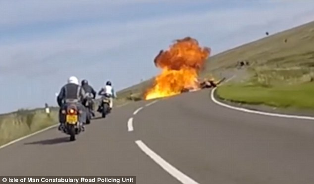 The crash happened during the Isle of Man Festival of Motorcycling but was not connected to the event