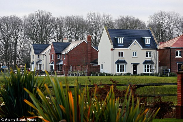 Top  spot: A new housing development at St. Mary's Park in Hartley Wintney in the District of Hart, Hampshire which held onto its crown as having the best quality of life in the UK for the fifth year in a row