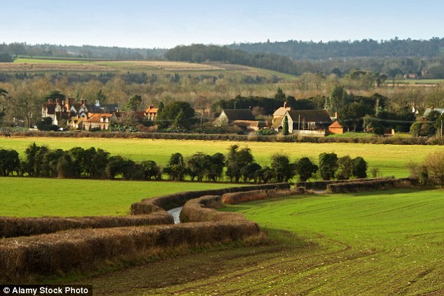 Rural charms: View from the Chiltern Hills near Hambleden, towards Henley-on-Thames, the area was voted third best in the country for quality of life up from fifth in 2015