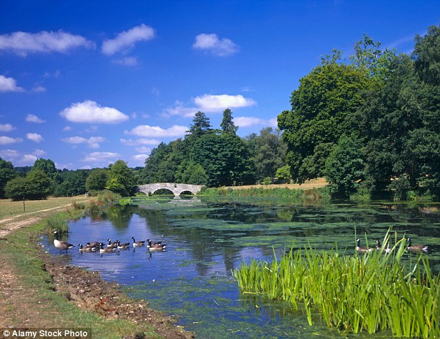 Picturesque: The River Wey at Waverley Abbey which moved up the list four places from tenth to sixth