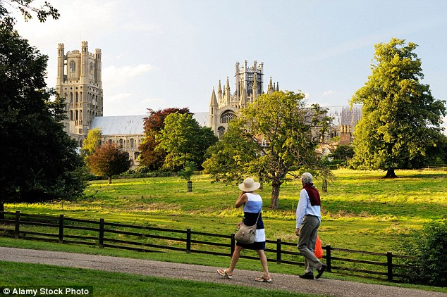 Ely Cathedral, Cambridgeshire. South Cambridgeshire moved up four places to ninth