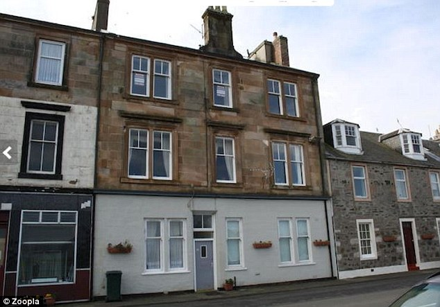 Sea views: This one-bedroom flat is selling for £33k in Port Bannatyne - the cheapest seaside town to buy a property