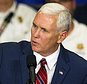 Republican vice presidential candidate, Indiana Gov. Mike Pence speaks during a campaign stop at the the Rossford Recreation Center in Rossford, Ohio, Friday, Oct. 7, 2016. (Nick Thomas/The Blade via AP)