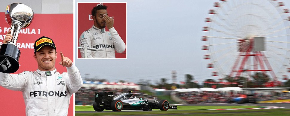 Nico Rosberg wins Japanese Grand Prix as Lewis Hamilton pays for poor start to finish