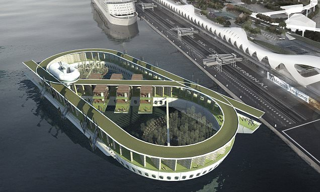 The floating hotel that has a cinema, restaurants and a CEMETERY for up to 48,000 urns