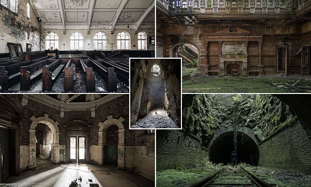 Abandoned Britain: Haunting photographs capture the derelict churches, hotels and mansions