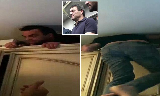 Italian mafia boss known as 'Mamma' is found hiding in a secret bunker behind his WARDROBE