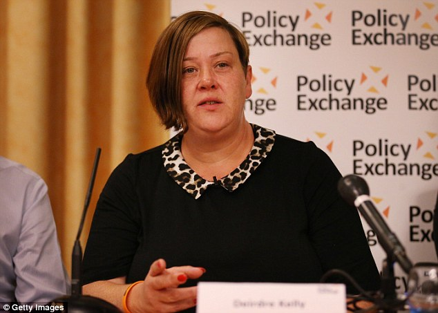 Dee speaks at a Policy Exchange fringe meeting at the Conservative party conference in Birmingham in September 2014; but the star says the work has since 'dried up'