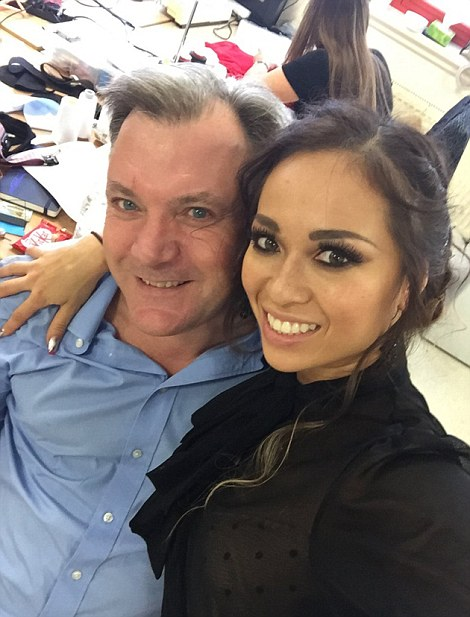 Dance partners: Ed Balls and Katya Jones in a Facebook snap