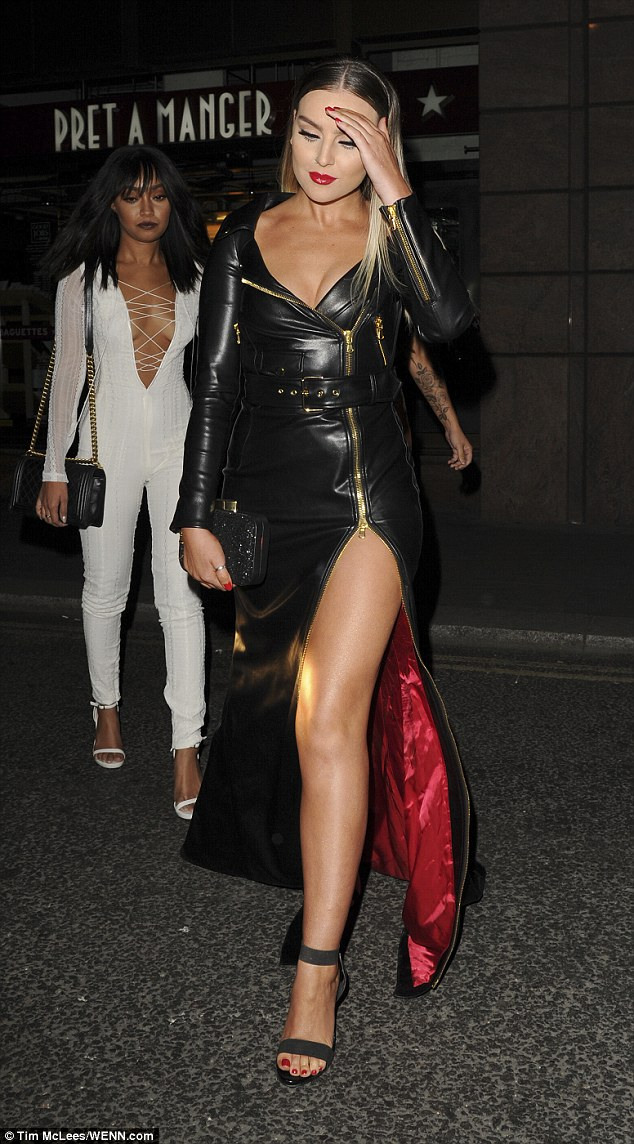Girls' night out: The X Factor formed four-piece been spending some quiet time after a busy few months on the road