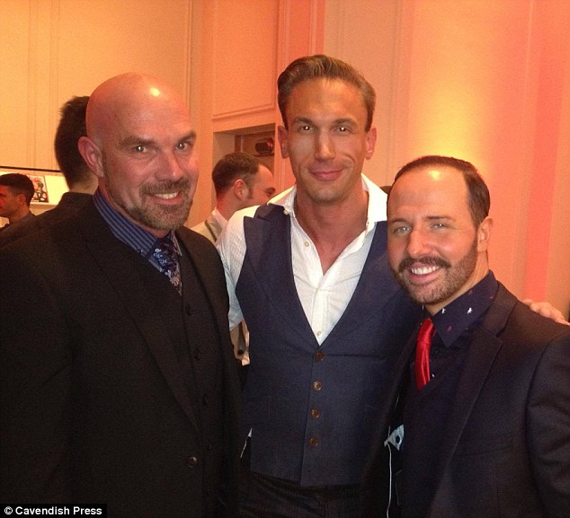 The couple, pictured with TV doctor Christian Jessen who has also had a hair transplant at the same clinic