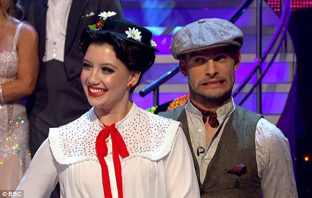 Light on her feet: On Saturday night's edition of Strictly, Daisy dazzled the judges with her Mary Poppins themed quickstep for the show's movie week