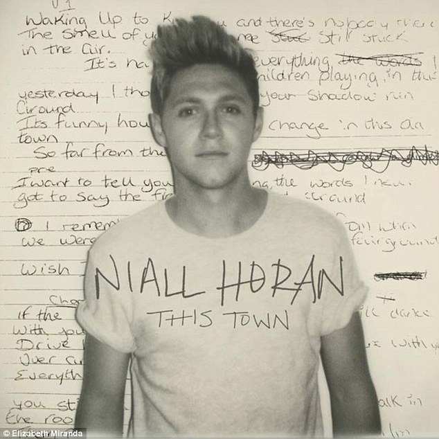 Going solo: The cover art for the single features lyrics and Niall sporting a simple white T-shirt