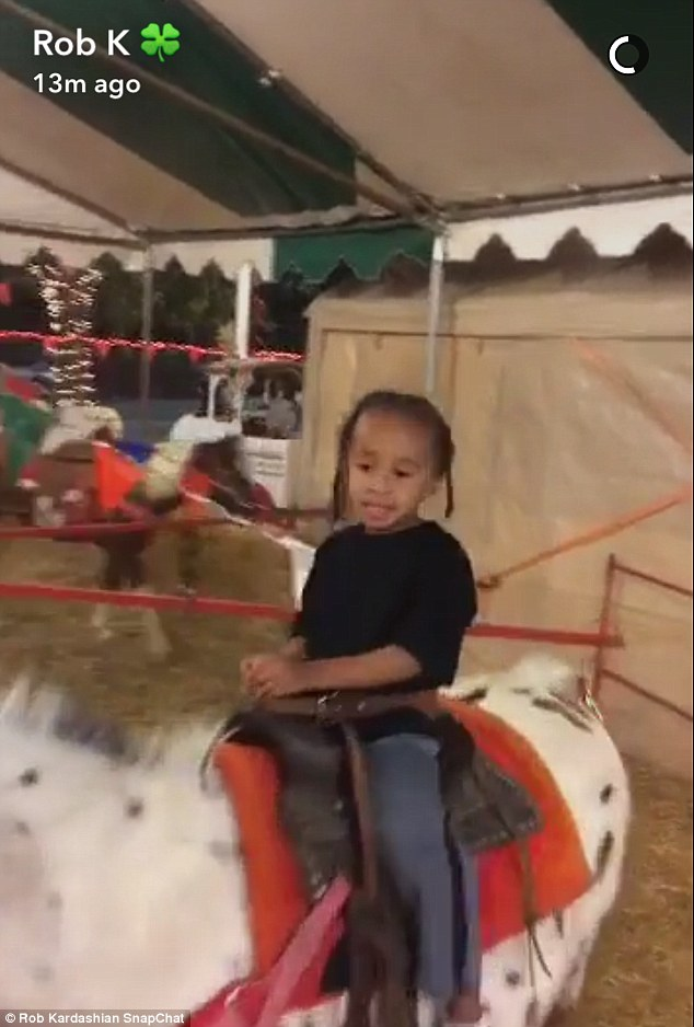 Proud: Rob even posted footage of young King Cairo riding a pony to his personal account