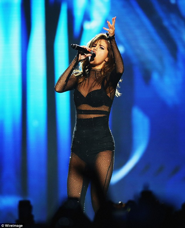 Over: She also cancelled the remaining dates of her Revival World Tour (pictured on tour on august 9th)