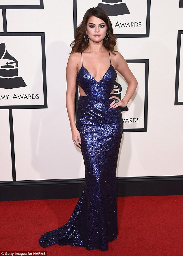 Health concerns: Selena's sobering announcement regarding her break from Hollywood was apparently motivated by her diagnosis with Lupus and the subsequent symptoms (pictured at the Grammy Awards in February 2016)