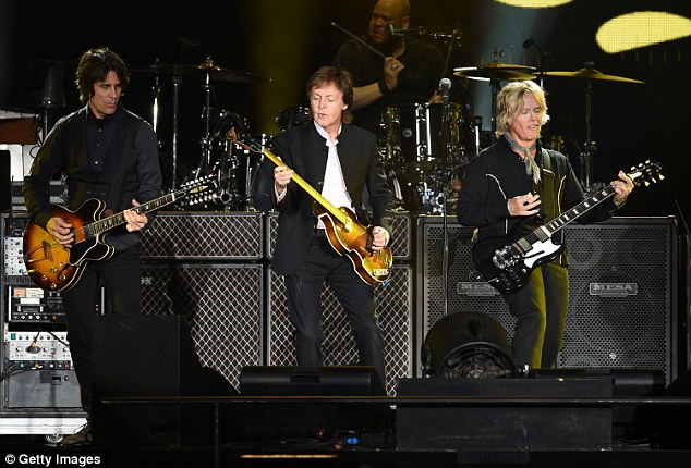 Turn back time: Sir Paul McCartney headlined Day Two of the first-ever Desert Trip music festival in Indio, California and he certainly delivered