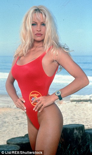 Pamela Anderson, pictured in her Baywatch days