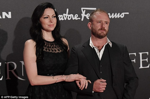Stunning: Laura was elegantly dressed in a simple black dress with a polka dot lace overlay