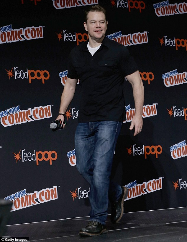 Birthday babe! Matt Damon turned 46 on Saturday as he attended New York Comic Con