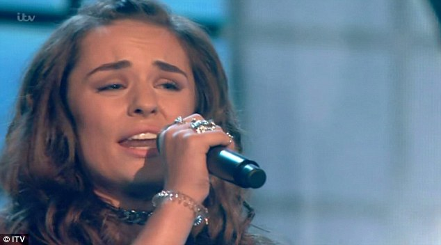 Less is more:Samantha Lavery, 17, then took to the stage with a more stripped-back look on the advice of Simon Cowell