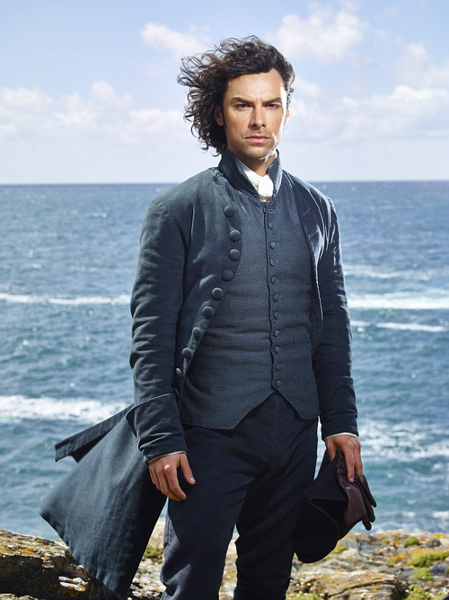 Aidan Turner (pictured) stars as Ross Poldark in the hit BBC series Poldark