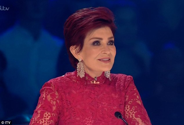 Red hot: The 38-year-old beauty was given some serious competition in the style stakes by Sharon Osbourne, 63, who put on a very glamorous display in a red lace number